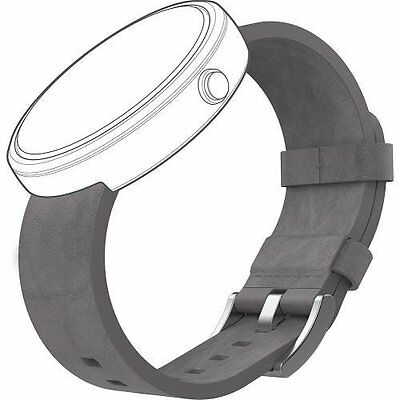 Motorola Leather Band For Moto 360 Smart Watches Gray Grey Brand New