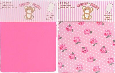Honey Baby Roses & Snow Toddler Bed or Crib Sheets 2-Pack (100% Cotton)