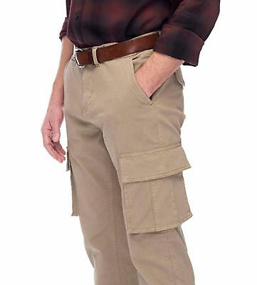 *NWT* MENS JACHS RELAXED STRAIGHT FIT CARGO WORK PANTS-FLAT-COTTON CANVAS Khaki