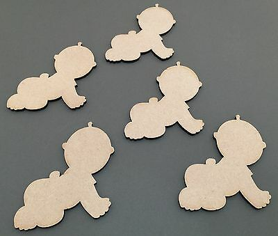 C48 Crawling Babies New Born Gift 100mm Plaque Laser Cut MDF Craft Shapes Blanks
