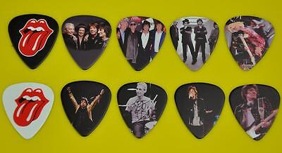 Rolling Stones Guitar Picks 10 Lot Set New Double Sided Image Picture Free Ship