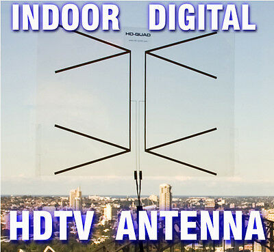 Digital Indoor High Performance Phased Array HDTV TV Antenna - 100% Transparent