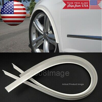 """1 Pair 47"""" Long White Arch Wide Body Fender Flares Extension Lip Guard For BMW"""
