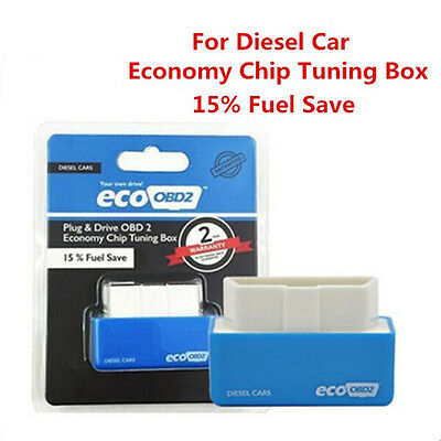 Free Shipping Plug Drive EcoOBD2 Chip Tuning Box Lower Fuel Save for Diesel Cars