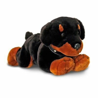KORIMCO LIL PUPS RONNIE THE ROTTWEILER DOG SOFT ANIMAL PLUSH TOY 30cm **NEW**