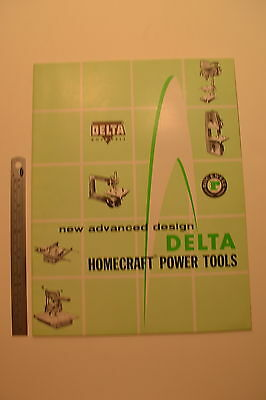 #J64 DELTA Homecraft Power Tools Catalog 1957 Shaper Scroll Saw Band Saw Radial