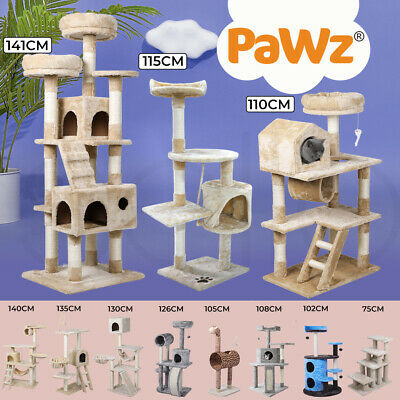 0.7-2.1M Cat Scratching Post Tree Gym House Condo Furniture Scratcher Pole