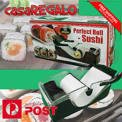 Delicious Home Made Sushi Maker Roller Easy Roll Machine Perfect OZ STOCK