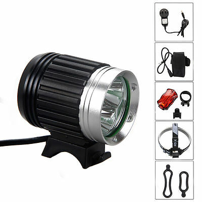 9000LM 3X CREE XM-L T6 LED Headlamp Headlight Head Front Bicycle Bike Lamp Light