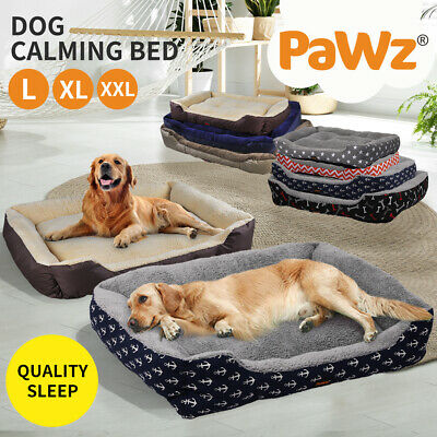 PaWz Deluxe Soft Washable Dog Pet Warm Basket Bed Cushion with Fleece Lining