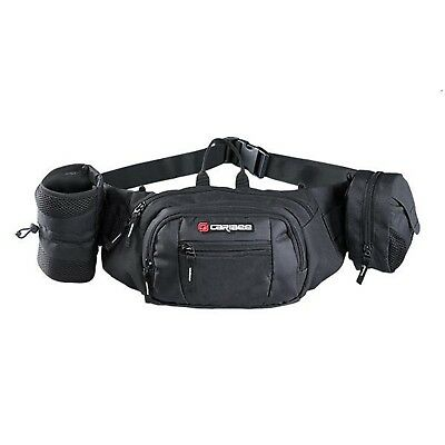Caribee Road Runner Hydration Belt Bum Bag Water Bottle Waist Belt Black