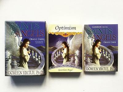 Saints And Angels Oracle Cards by Doreen Virtue 44 Card Deck And Guidebook