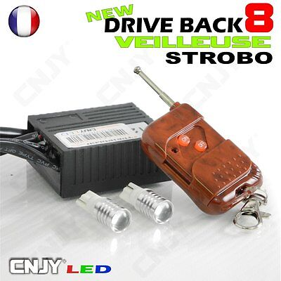 Kit Driveback 8 Ampoule Veilleuse Gyrophare Flash Pace Car Vehicule Escorte Secu