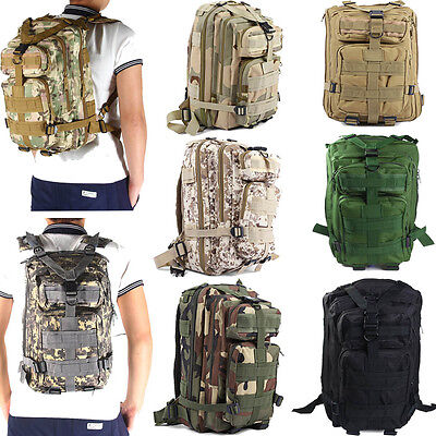 3P Military Tactical Backpack Sport Bag 30L for Outdoor Camping Traveling Hiking