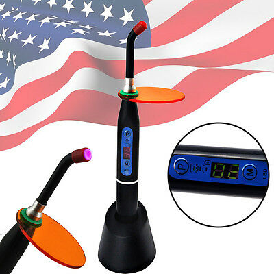 *USA Shipping* Dental 5W Wireless Cordless LED Curing Light Lamp 1500mw-Black