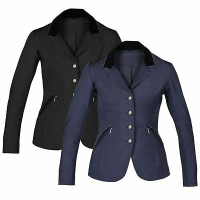 Horka Ladies Piaffe Strass Velvet Collar Comfort Horse Riding Competition Jacket