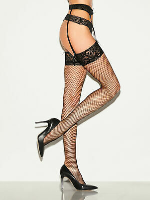 Ann Summers Womens Ladies Fishnet Stocking & Suspender Set Lingerie