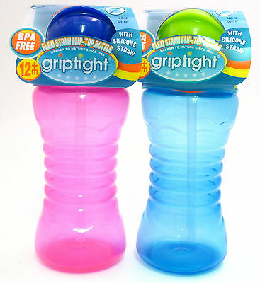 Griptight - Flexi Straw Flip Top Bottle