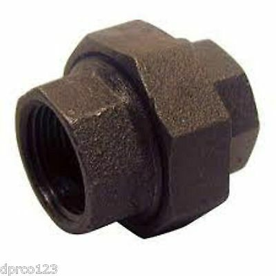 """Lot Of (5) 1/2""""  Inch Union Black Iron Pipe Fittings Threaded Plumbing"""