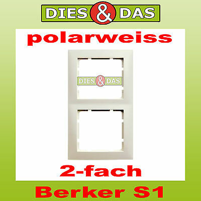 berker s1 abdeckrahmen 1 fach polarweiss rahmen pws gl. Black Bedroom Furniture Sets. Home Design Ideas