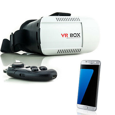 3D Brille VR Virtual Reality für Samsung Galaxy S5 S6 S7 Edge Neo mit Controller