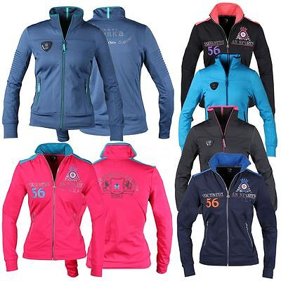 Horka Equestrian Ladies Florida Sweater Front Badge Lightweight & Breathable