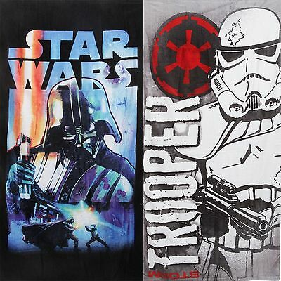 Star Wars Darth Vader, Storm Trooper Beach Bath Swimming Towel 100% Cotton