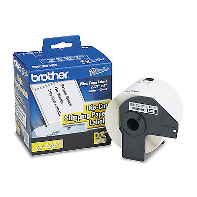"Brother Die-Cut Shipping Labels 2.4"" x 3.9"" White 300/Roll DK1202"