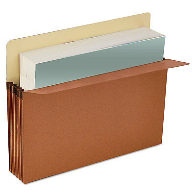 UNIVERSAL 3 1/2 Inch Expansion File Pockets Straight Tab Letter Redrope/Manila