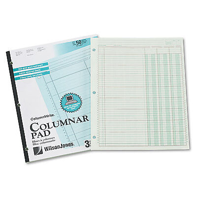 Wilson Jones Accounting Pad Three Eight-Unit Columns 8-1/2 x 11 50-Sheet Pad