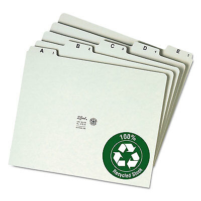 Smead Recycled Top Tab File Guides Alpha 1/5 Tab Pressboard Letter 25/Set 50376