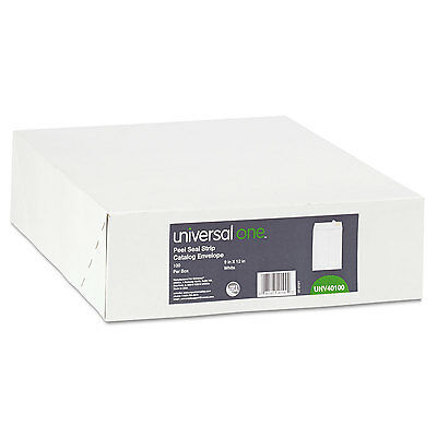 Universal One Peel Seal Strip Catalog Envelope 9 x 12 White 100/Box 40100