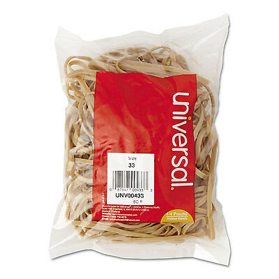UNIVERSAL Rubber Bands Size 33 3-1/2 x 1/8 160 Bands/1/4lb Pack 00433