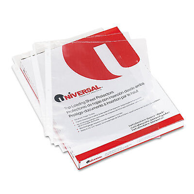 UNIVERSAL Top-Load Poly Sheet Protectors Nonglare Economy Letter 200/Box 21127