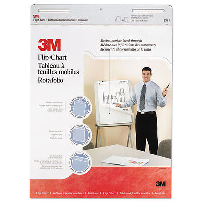 3M Professional Flip Chart Pad Unruled 25 x 30 White 40 Sheets 2/Carton 570