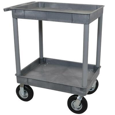 Luxor TC11P8-G 32 x 24-Inch Gray Plastic 2 Tub Multi-Purpose Roll Utility Cart