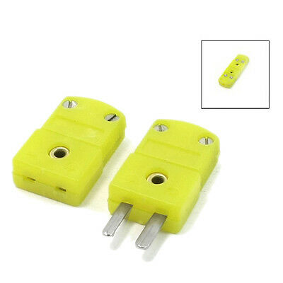 5x(Yellow Plastic Shell K Type Thermocouple Plug Socket Connector Set) SP