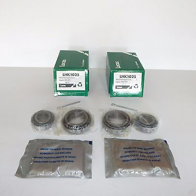 Pair of Lucas Front Wheel Bearing Kits for Jaguar E-Type XKE,  and XJ6 to 1977