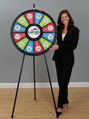 12 Slot Black Floor Stand 31 Inch Prize Wheel