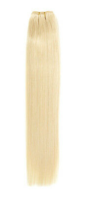 Euro Silky Weave | Human Hair Extensions | 22 inch | Colour Starlight Blonde 613