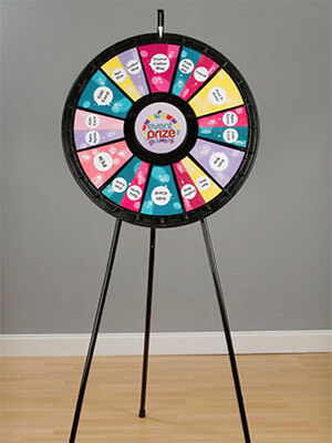 12 - 24 Slot Adaptable Floor Stand Prize Wheel Game With Case For Trade Show