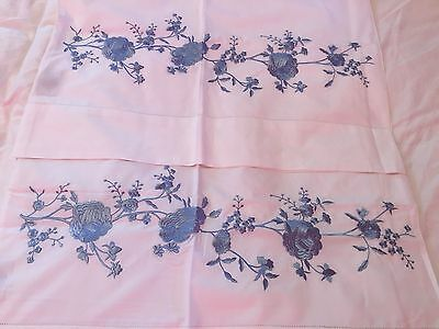 Sferra Rosina 406 Percale Pair Standard Pillowcases Roses Italy Luxury Bedding