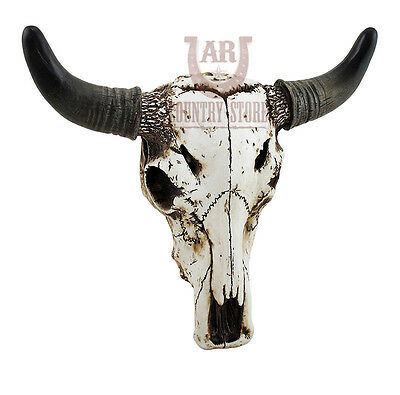 Realistic Steer Bull Cow Skull Wall Mount / Table - Rustic, Western Style Decor