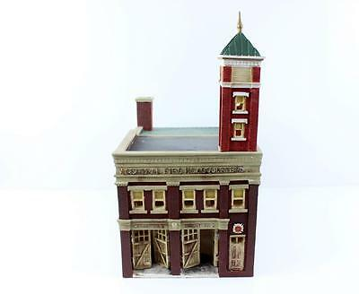 O scale trains large american old fashioned fire station model