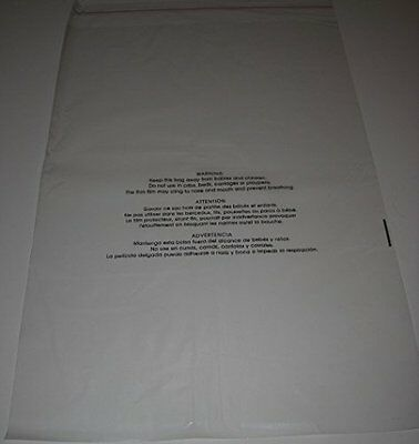 "Clear Poly Bags, Self Sealing, Suffocation Warning, 12"" x 18""-1.5 Mil - 100 Pack"