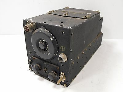 US Military ARC-5 Aircraft Receiver Covering 3 - 6 MHz for Ham Radio VINTAGE