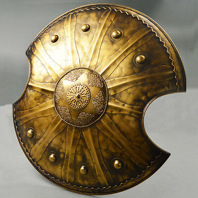 Medieval Knight TROY Shield Handcrafted Metal Iron Collectible Blade Accs New