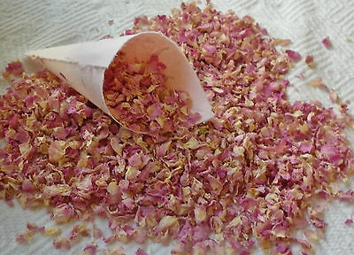Pale Pink  Dried Rose Petal Confetti For Wedding Confetti Cones
