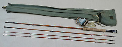 Hardy Palakona 'Gold Medal' 3 piece 9ft Trout fly rod plus spare tip 1952