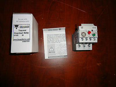 CARLO GAVAZZI THERMAL OVERLOAD RELAY GT32-8,  5 - 8,Amp NEW IN BOX